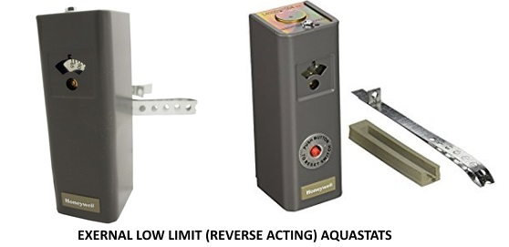 external low limit aquastats for heating water with a wood stove