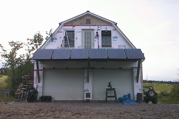 Finally got the solar modules mounted to the south side of the house.