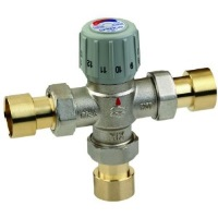 using a mixing valve to keep tap water at a safe temperature