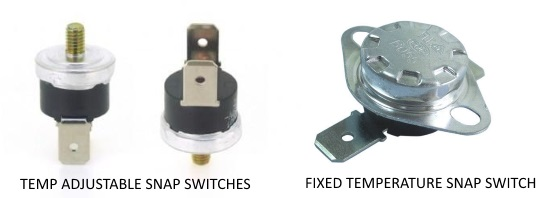 samples of thermal snap switches