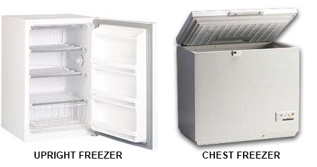 types of freezers