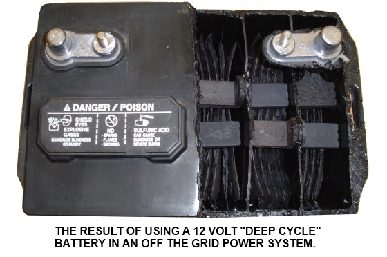 Using a 12 volt battery in a deep cycle application will destroy it.