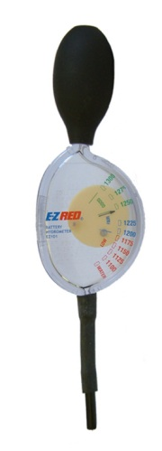 A high quality hydrometer is essential to diagnose your batteries.