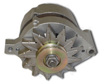 Typical 100 amp Ford alternator as used in many Ford cars and Trucks in the 70s and 80s.