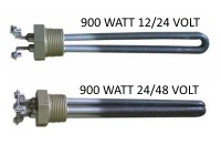 Low voltage water heater elements for heating water with solar.