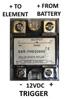 A typical SSR (solid state relay) used in a dump load