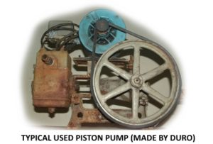 used piston pumps for off the grid living