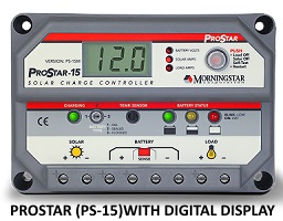 Prostar 15m PWM controller with digital display